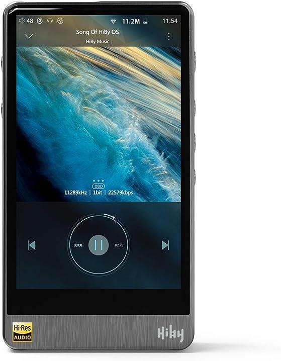 Lettore mp3 hiby r6pro bluetooth ad alta fedeltà ultra hd sistema operativo android 8.1 completamente aperto