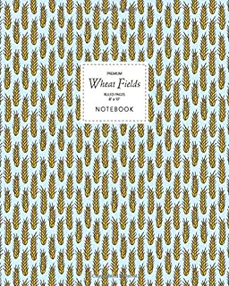 Wheat Fields Notebook - Ruled Pages - 8x10 - Premium: (Sky Edition) Fun notebook 192 ruled/lined pages (8x10 inches / 20.3...