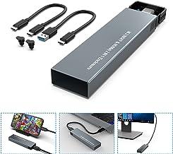 Cajas para discos duros M.2 NVME y SATA NGFF Carcasa de protocolo dual Gen 2 USB 3.1 M.2 SSD Adaptador de externo HDD UASP...