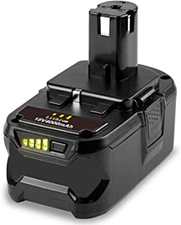 TREE.NB RB18L40 18V 4.0AH Li-ion Battery for Ryobi BPL-1815 BPL-1820G BPL1820 BPL18151 P102 P103 P200 P210 Cordless Power ...