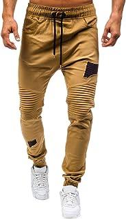 Pantalones para Hombre,Cintura Ajustable por Cordón y Bolsillos Pantalones Moda Pop Casuales Chándal de Hombres Jogging Pants Trend Largo Pantalones