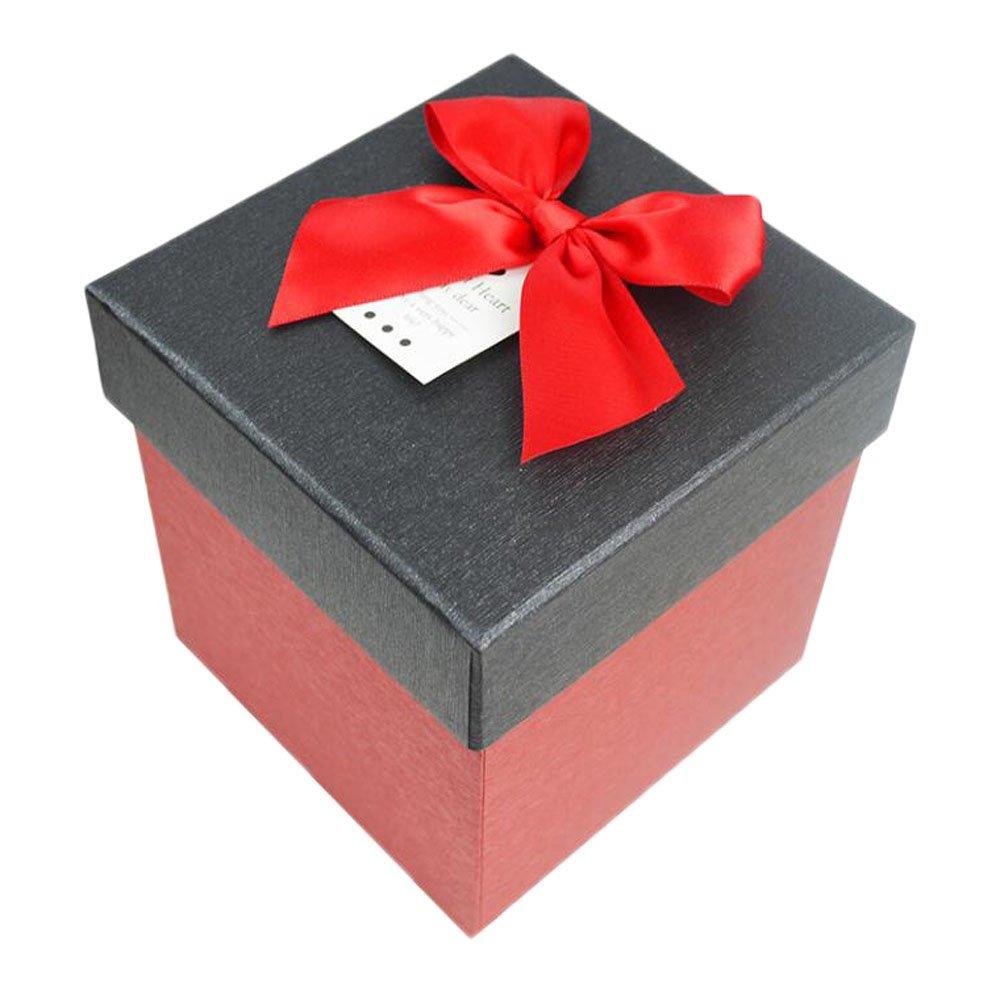 Black Temptation Caja de Regalo de cartón Rojo Cuadrado con Tapa Negra: Amazon.es: Hogar
