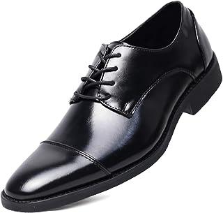 [visionreast] 革靴 メンズ ビジネスシューズ ストレートチップ 外羽根 幅広 本革 かわぐつ 就活 靴 紳士靴 レースアップ フォーマル 営業マン 冠婚葬祭 通勤 防滑 黒 23.5-29.0cm