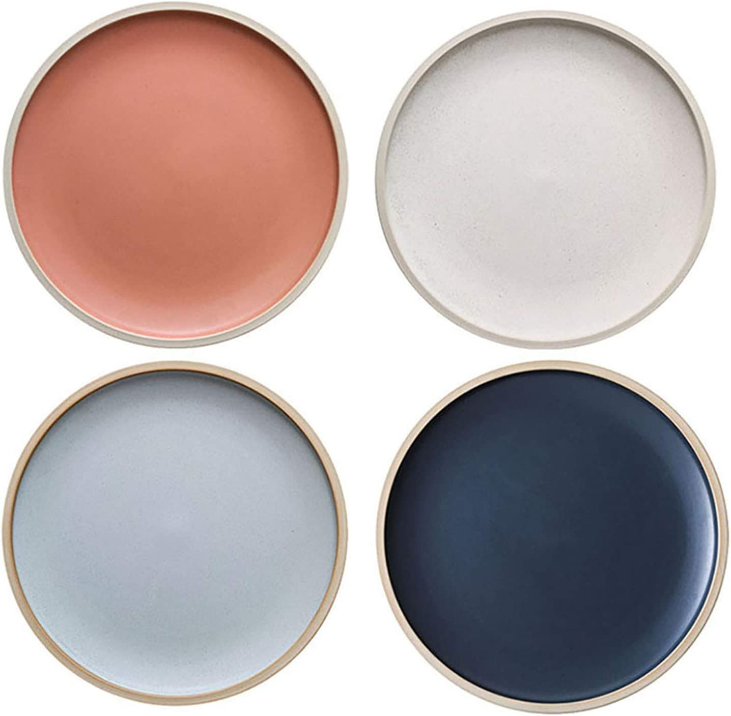 MDZF SWEET HOME 10.4-Inch Porcelain Tampa Mall Max 76% OFF Ser Pasta Dinner Set Plates