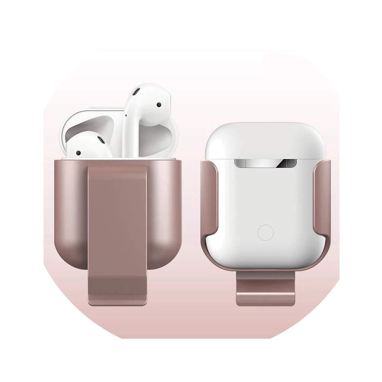 Clip para la Cintura para airpods, Funda para audífonos inalámbricos para Exteriores, Funda para Airpods, Caja de Carga Oro Rosa: Amazon.es: Electrónica