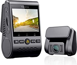 """VIOFO Dual Dash Cam A129 Duo Full HD 1080P Front and Rear Camera with GPS Wi-Fi Compact Design 2.0"""" LCD Display 140° Wide Angle, Emergency Recording, Parking mode, Super Capacitor,Motion Detection,WDR"""