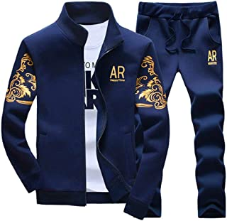 Men's Tracksuit Athletic Sports Casual Full Zip Warm Jogging Sweatsuit