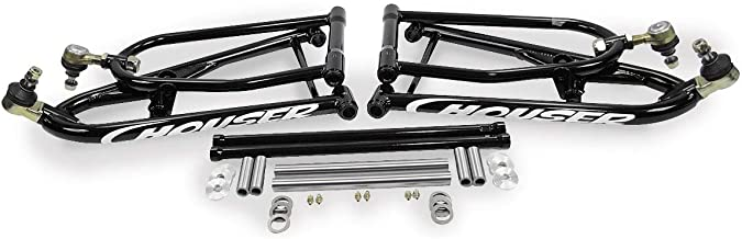 Houser Racing Regular Travel A-Arms - Gloss Black +2.25in. W, +0in. Foward 060111