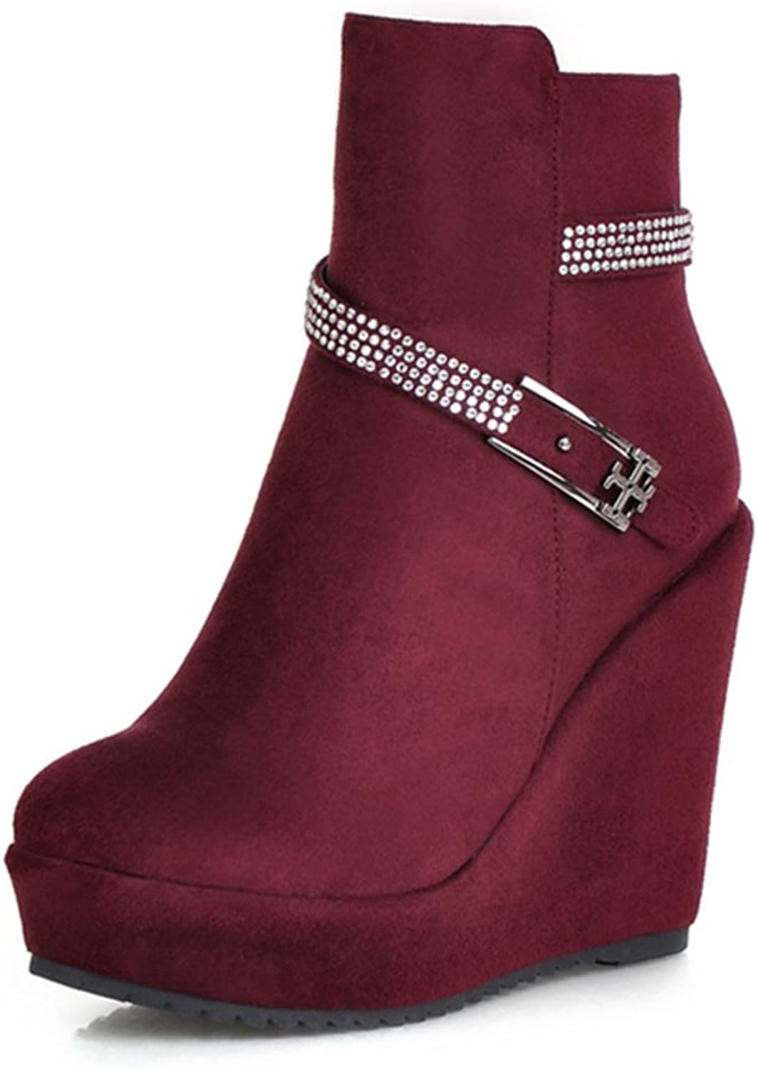 RHFDVGDS autumn winter fashion boots With super high with Rhinestone side zipper Western boots