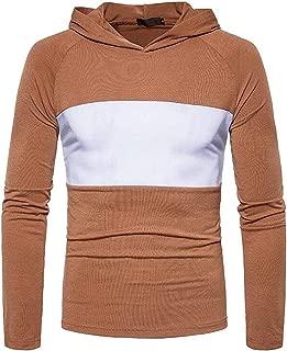 Men's Sweatshirt Color Block Raglan Sleeves Pullover Hoodie Sweatshirt Black US XX-Small