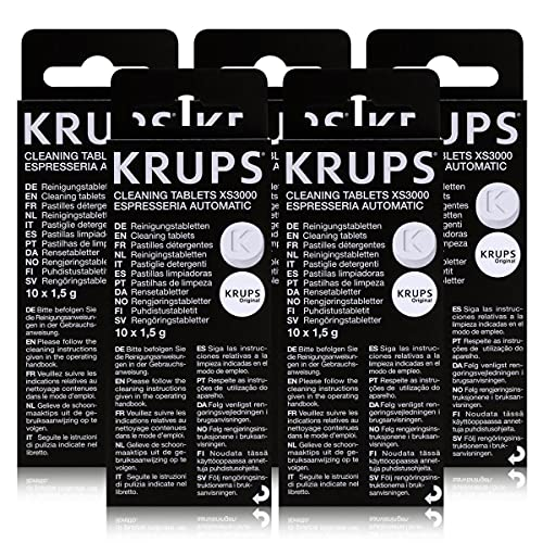 5x Krups Reinigungstabletten XS 3000 (10 Stück)