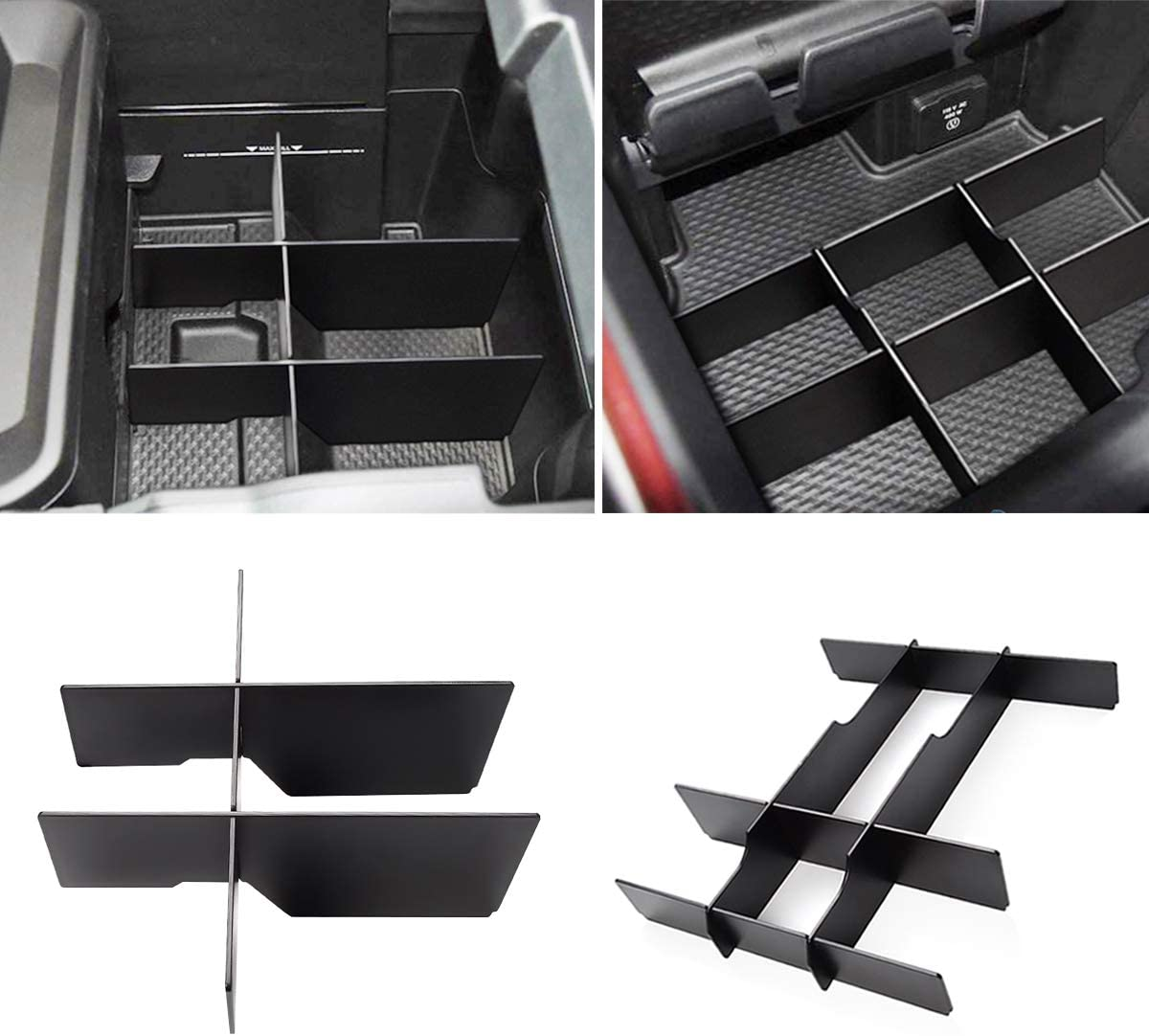 Yumzeco Center Console OFFer Fees free Organizer Insert Ram for Dodge 15 Divider