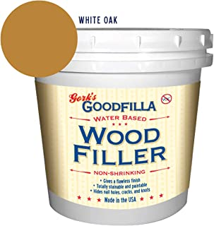 Water-Based Wood & Grain Filler - White Oak - 1 Quart by Goodfilla   Replace Every Filler & Putty   Repairs, Finishes & Patches   Paintable, Stainable, Sandable & Quick Drying