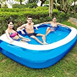 Huinsh Inflatable Swimming Pools Above Ground, Blow up Pools for Kids and Adults, Big Pools for Backyard, Garden, Outside, 79''×59''×20'' Family Pool