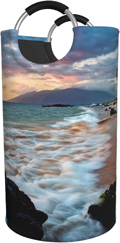 Beach Maui Hawaii Sunset Clouds Print Hamper depot Laundry cheap Waterproof