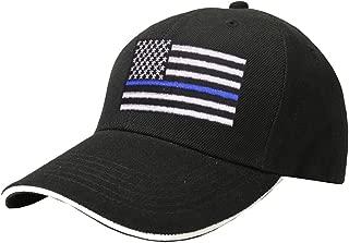 Thin Blue Line Flag Hat American USA Police Baseball Cap for Man Women