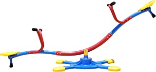 SLIDEWHIZZER Kids Outdoor Backyard Playground Seesaw: Swivels and Rotates 360 Degrees Teeter Totter at Home for Youth Junior Age 3 4 5 6 7 8, 2019 Toy