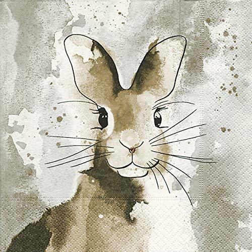 20 Servietten Osterhase Hase Watercolour Tier Bunny