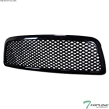 Topline Autopart Black Mesh Front Hood Bumper Grill Grille ABS For 09-12 Dodge Ram 1500