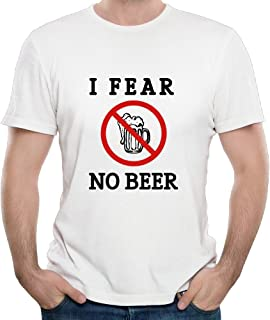 Men's I Fear No Beer Classic Classic Logo Normal Fit Short-Sleeves Tshirt