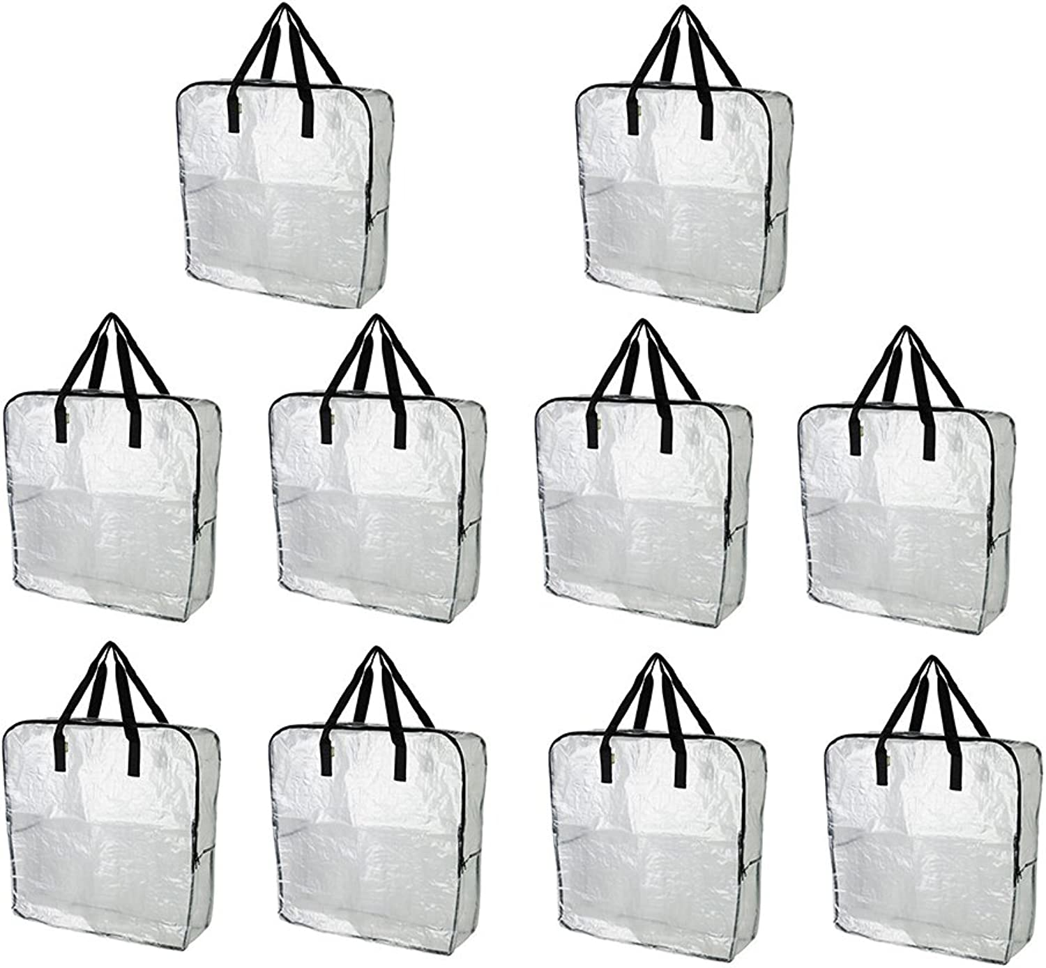 IKEA DIMPA Extra Large Storage Bag, Clear Heavy Duty Bags, Moth Moisture Predection Storage Bags (Pack of 10)