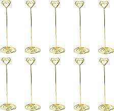 MyGift Lot de 6/Brass-tone en fil m/étal 25,4/cm carte de visite et place Porte-cartes