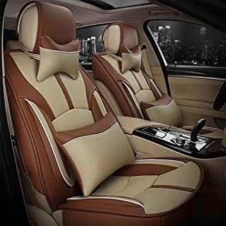 JKHOIUH Universal Fit Full Set Flat Cloth Fiber Funda de asiento de automóvil, Funda de cojín de asiento de automóvil Se adapta a la mayoría de los automóviles, camiones, camionetas o furgonetas) Fund