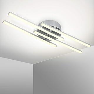 Kingwei Plafonnier LED Design Moderne Avec 4 PCS Agité Lumière,lumière Plafond en Forme de Vague,Luminaire Plafonnier Blan...