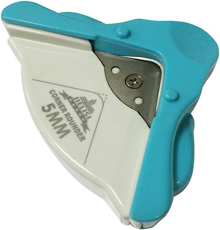Radio 5mm Corner Punch Rounder, Cortador de la Esquina/Herramientas de Cortador para Tarjeta Scrapbooking Crafts Herramienta de Bricolaje (Azul)