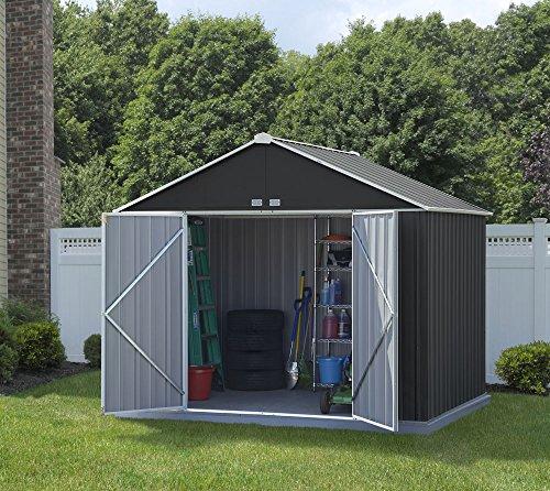 Spacemaker Metallgerätehaus, Gartenhaus, Geräteschuppen EZEE grau/Creme, 299x249x249 cm Metallgartenhaus