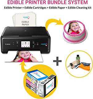 Icinginks Latest Edible Printer, Cleaning Kit, Edible Cartridges, 50 Sheets, Birthday Cupcake Toppers Cake Decorating Canon Edible Printer
