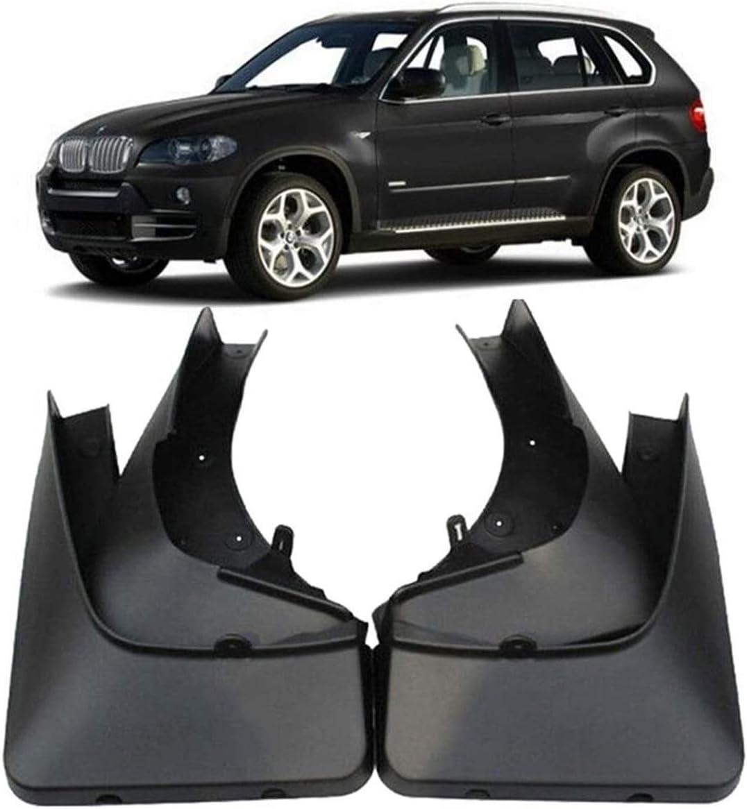 2007-2013 2008 2009 2010 2011 2012 Color : Black With Pedal XIHEJD Car Auto Mudflaps mudguard Splash GuardsMud Flaps Splash Guards Front and Rear Mud Guard Set Compatible with B-MW X5 E70