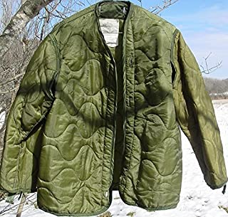 Field Jacket Liner, M-65, Olive Drab--Genuine Military Issue, Large