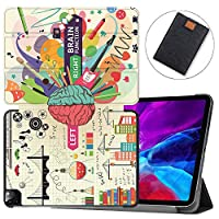 """MAITTAO Magnetic Smart Case for iPad Pro 12.9 inch 2020, Support Apple Pencil Wireless Charging with Auto Sleep/Wake, Leather Stand Cover for New iPad 12.9"""" 2020 A2229 / A2233,Creative Brain 3"""