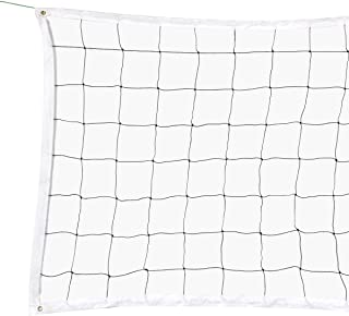 RAPICCA Volleyball Net for Indoor or Outdoor Sports Backyard Schoolyard Pool Beach Volleyball Replacement Net for Tournament or Championships (32 FT x 3 FT) Poles Not Included