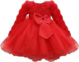 Traje bebe Niño Niña 0 3 6 12 meses Comodo Rojo Todo de Rojo Infantil 2019 Bautizo Princesa Bodas Tutu Primavera
