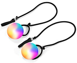 Wanby 1 Pair Poi LED Thrown Balls for Professional Hip-hop,Belly Dance Level Hand Props for Kids Gift (Multi-colored)