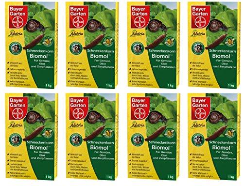 8 x 1 kg Bayer Natria Schneckenkorn Biomol Schneckenmittel