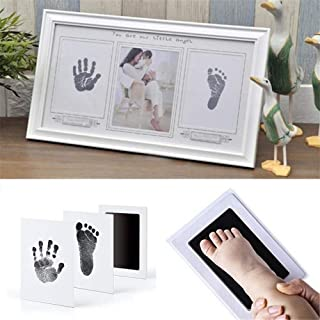 Baby Special Handprint & Footprint Ink Pad Baby Items Souvenir Hand & Footprint Makers Learning & Education Toy Hand Footprint : Black