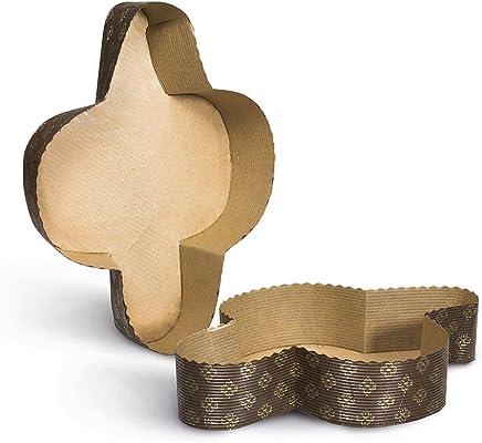 dulces de pascua ecc. 10 piezas Dreams Party Ideal para Paloma de Pascua pirottino desechable de papel de horno Molde COLOMBA 1 kg