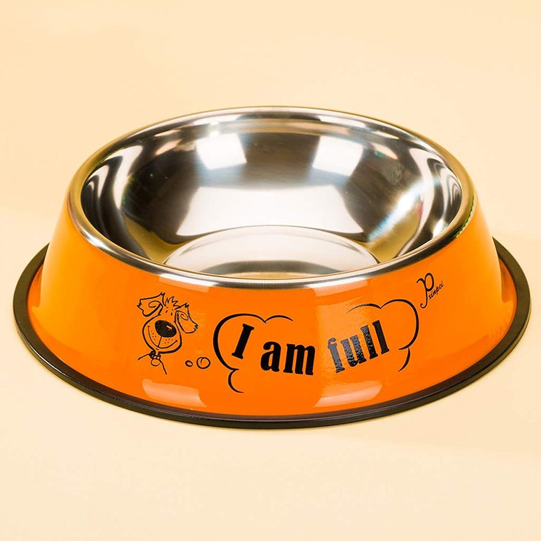 CQ Stainless Steel Food Bowl Pet Dog Supplies Dog Bowl Single Bowl Dog Food Bowl (Size   S)