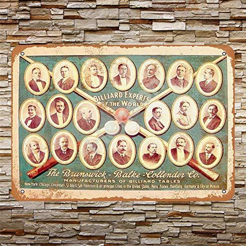Henson 1920 Brunswick Billiard Experts Traditional Vintage Tin Sign Logo 12 * 8 Advertising Eye-Catching Wall Decoration