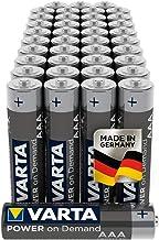 Pilas AAA Micro VARTA Power on Demand (aptas para accesorios de ordenador, aparatos domésticos inteligentes o linternas), paquete de 40 unidades