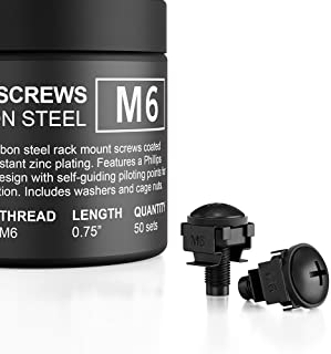 Best AC Infinity Carbon Steel M6 Rack Screws, Nylon Washers, and Cage Nuts. 50-piece set for equipment server racks, enclosures, and cabinets. Review