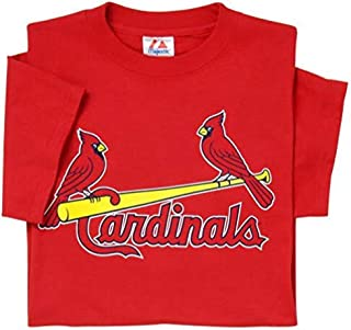 Majestic St. Louis Cardinals (Adult 3X) 100% Cotton Crewneck MLB Officially Licensed MLB Replica T-Shirt Jersey