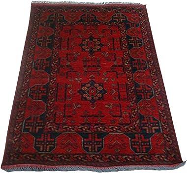 AHMEDANI Afghan Khal Muhamadi Exclusive Area Rug Hand Knotted Wool Carpet (4.8 x 3.4)'