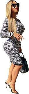 فستان كلاسيكي للنساء، فستان قصير يصل الى الركبة باكمام طويلة، فستان بتصميم كلاسيكي ضيق يناسب سيدات المكتب
