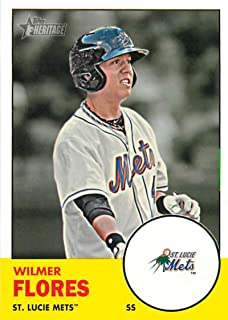 2012 Topps Heritage Minor League #117 Wilmer Flores St. Lucie Mets MLB Baseball Card NM-MT