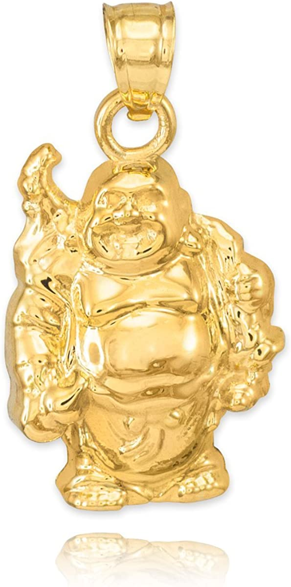 10k Chicago Mall Yellow Gold Lucky Buddha Bracelet Max 54% OFF Laughing Charm