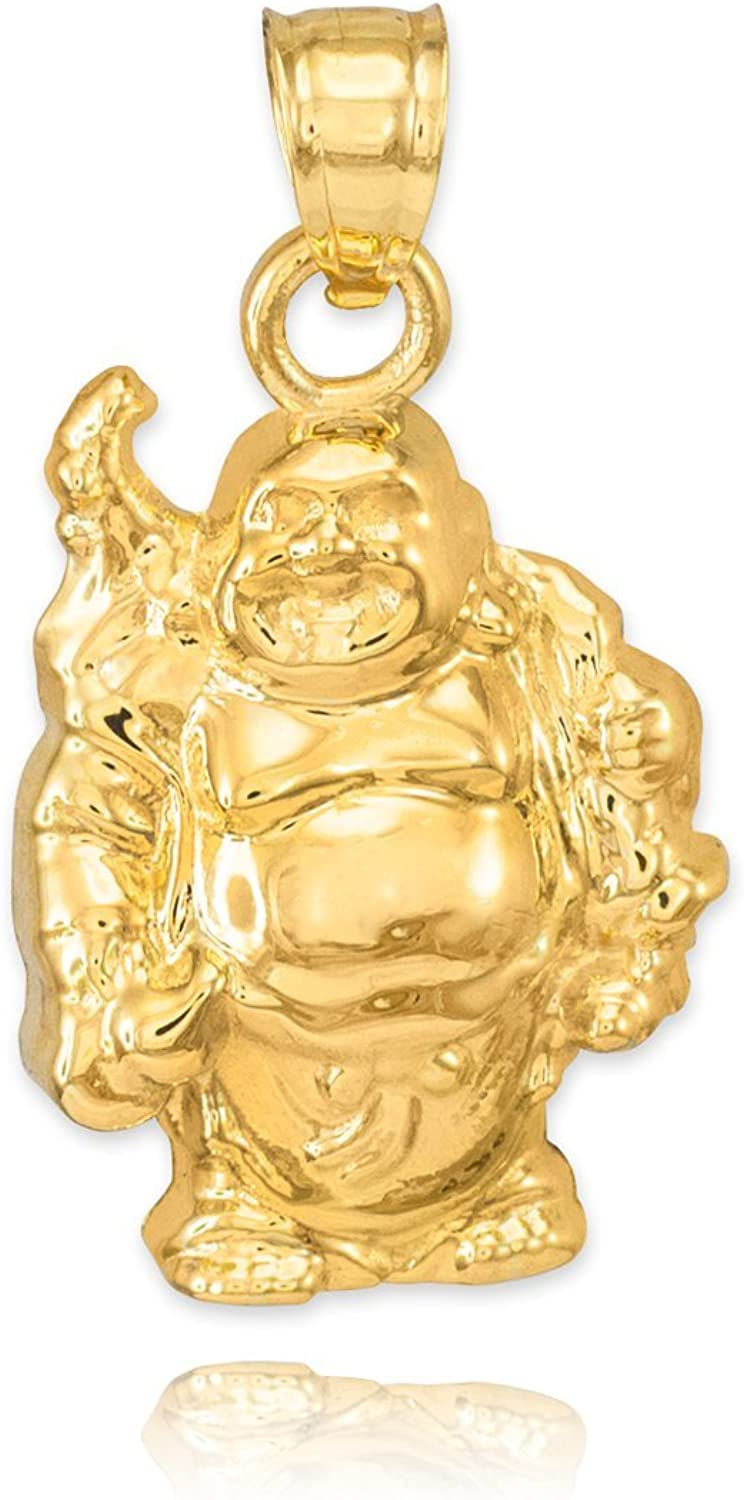 10k Yellow gold Lucky Charm Laughing Buddha Bracelet Charm